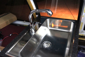 ikea sink inside van conversion